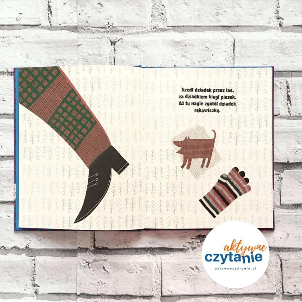 Rękawiczka Ukraińska bajka ludowa  książka pies but