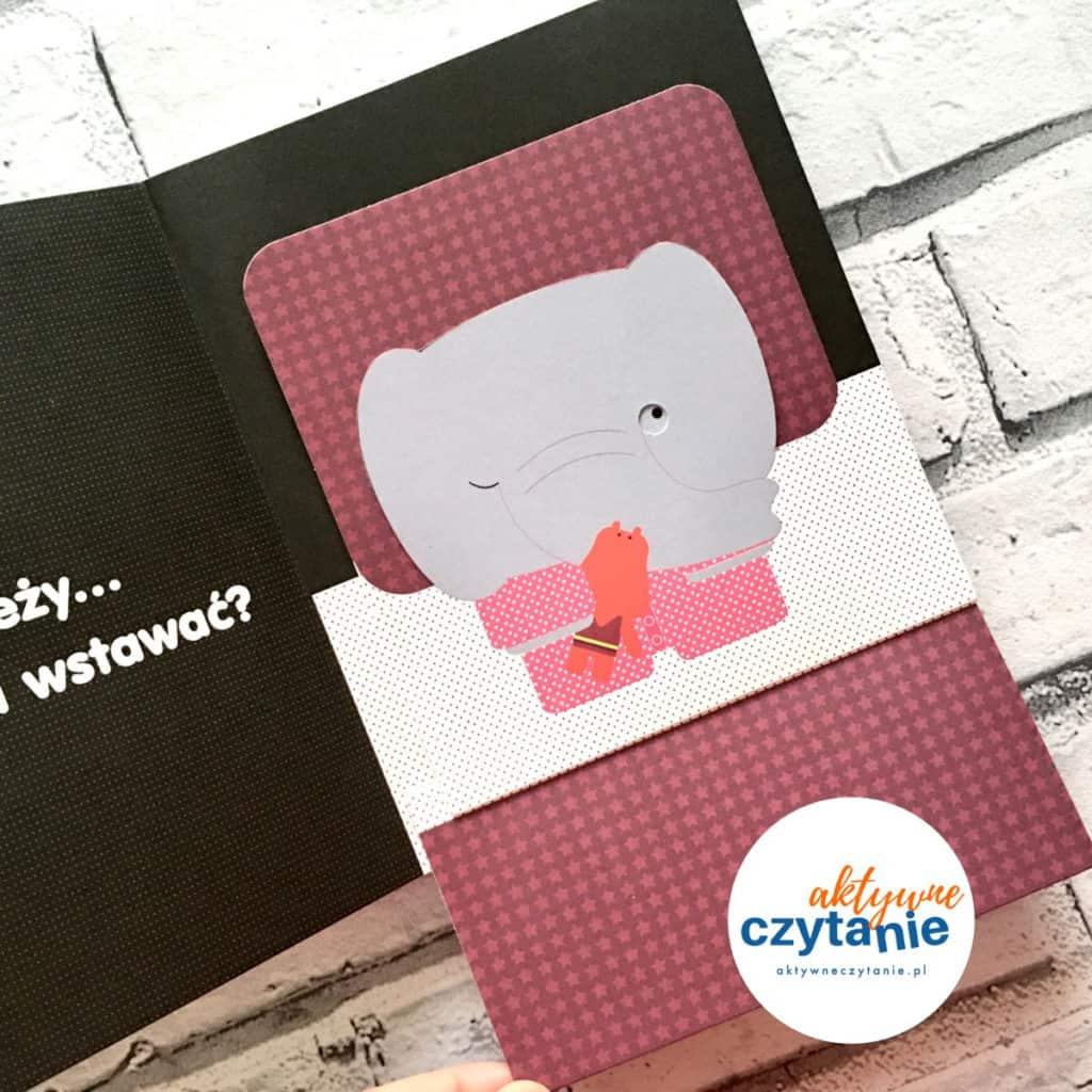 To zależy książka mini pop-up słoń