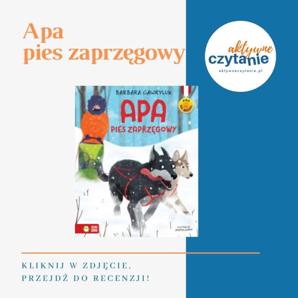 Apa pies zaprzęgowy książki dla dzieci montessori friendly