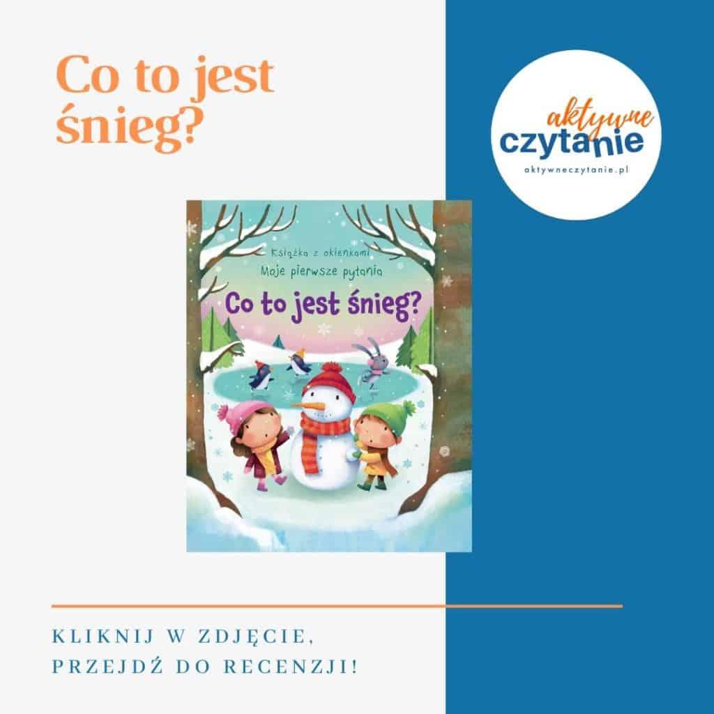 Co tojest śnieg książki dla dzieci montessori friendly