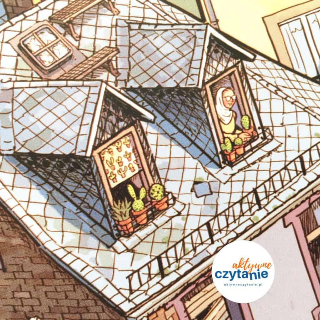dach kobieta woknie