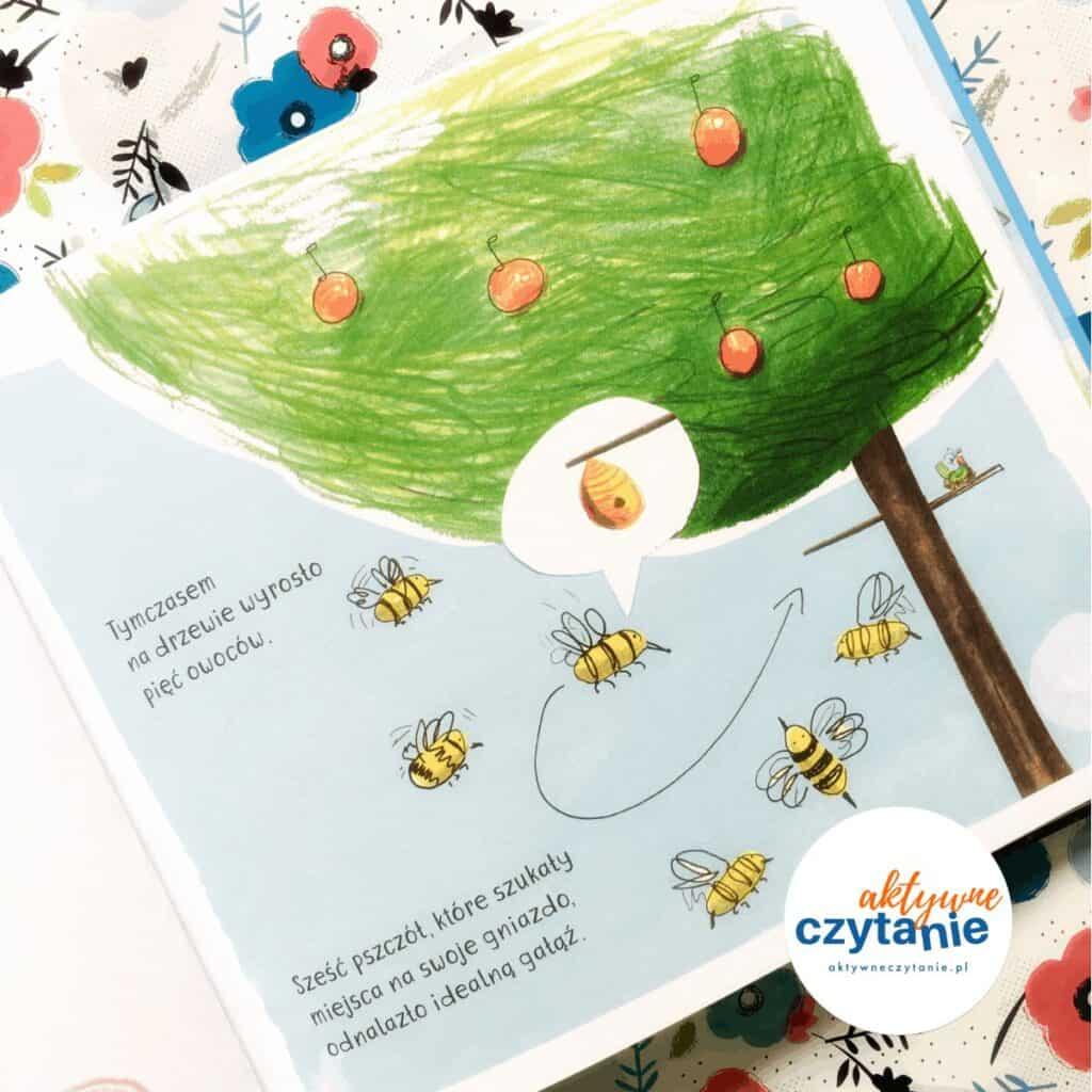 jabłka drzewi ipszczoły