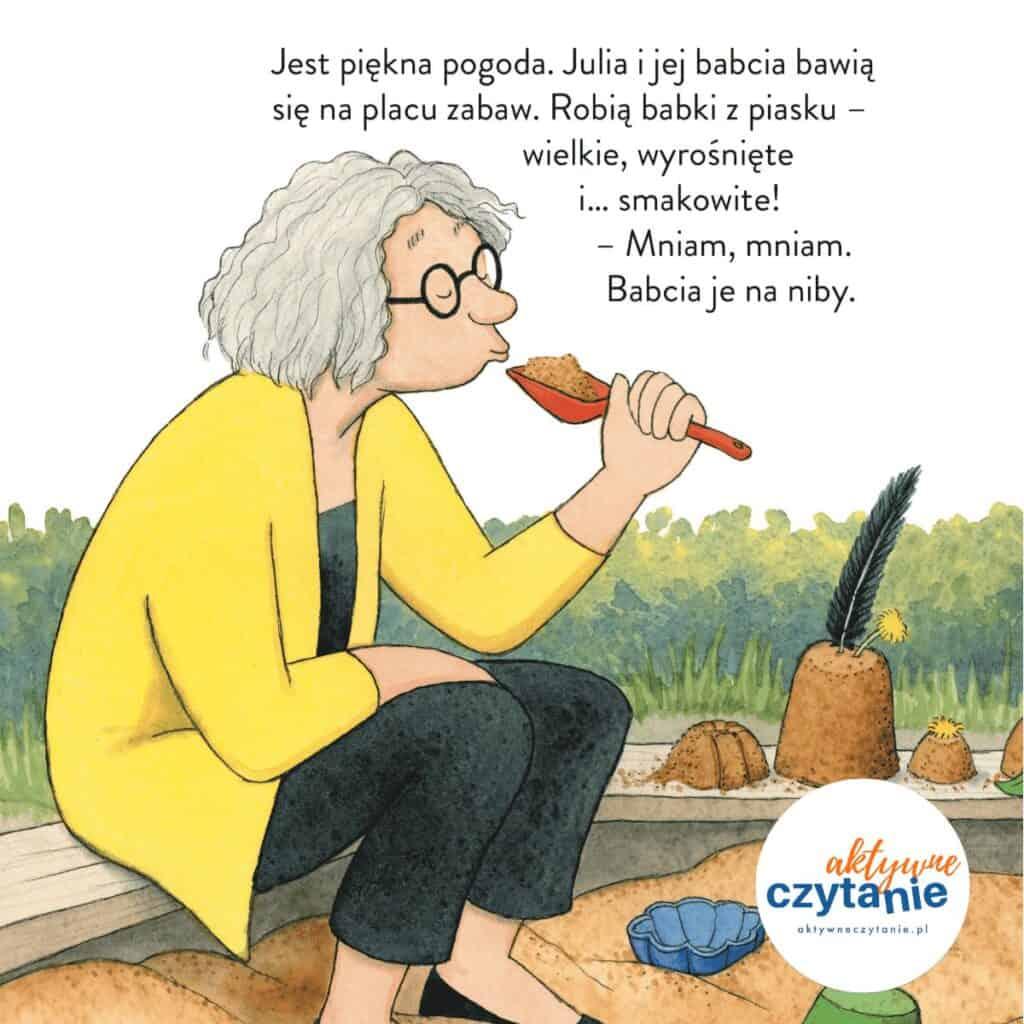 Julia je wszystko babcia wpiaskownicy