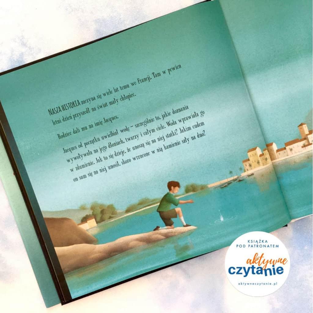 Podwodny świat recenzja książki dla dzieci chłopiec nabrzegu