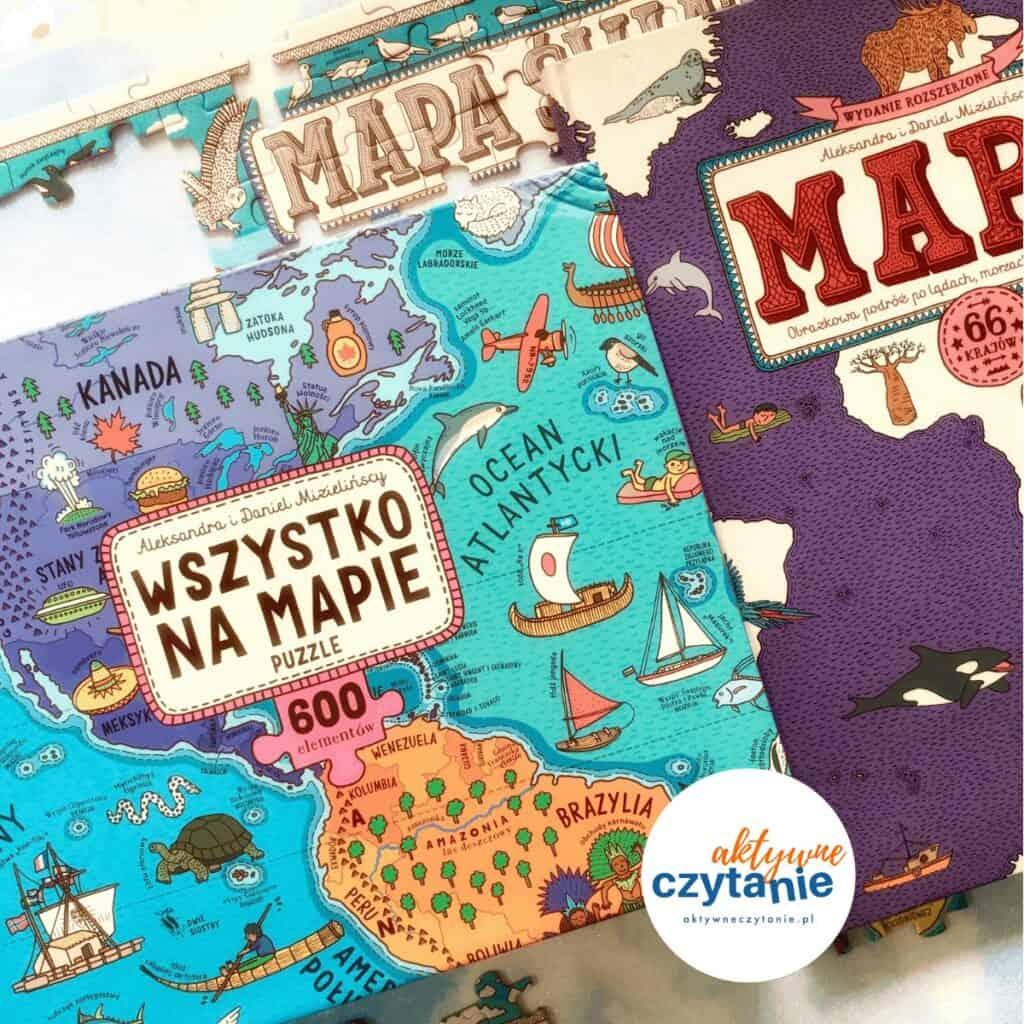 Wszystko namapie puzzle dwie siostry mizielińscy 2