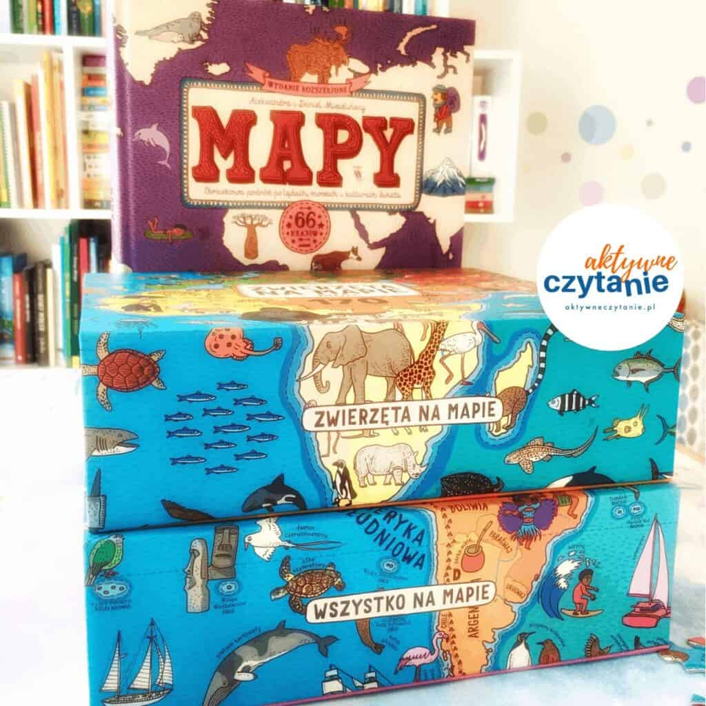 Puzzle mapy mizielińscy dwie siostry