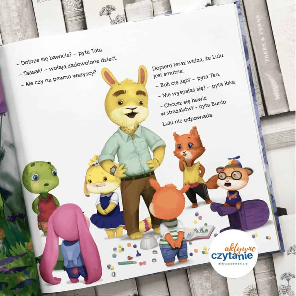 Lulu iurodzinowa Katastrofa ksiązki dla dzieci aktywne czytanie 1