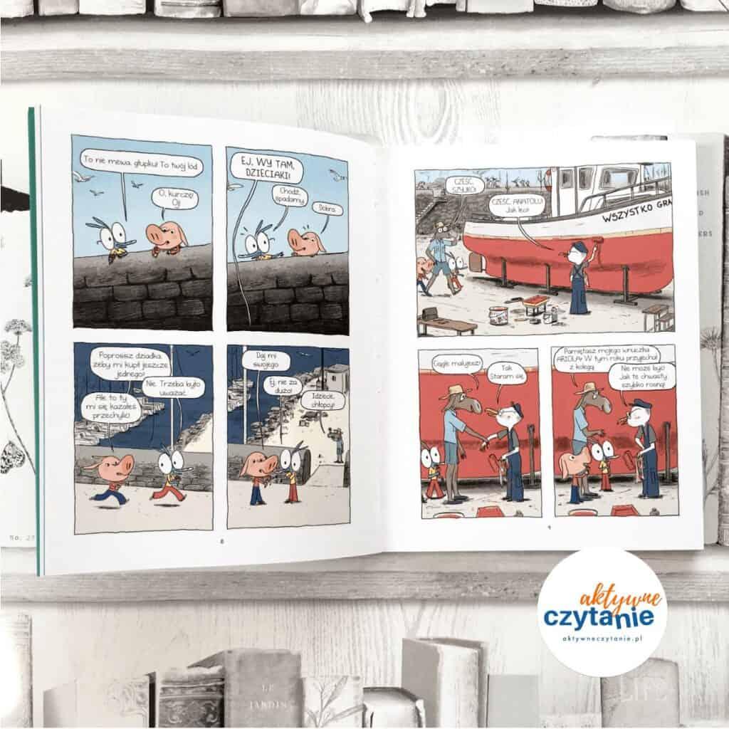 Ariol. Co gryzie muchę S.? ksiązki dla dzieci komiks aktywne czytanie książka zgłoszona doplebiscytu
