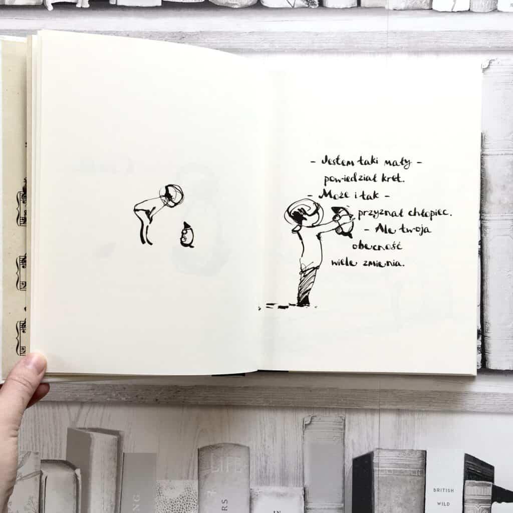 Chłopiec, kret, lis ikoń ksiązki dla dzieci aktywne czytanie