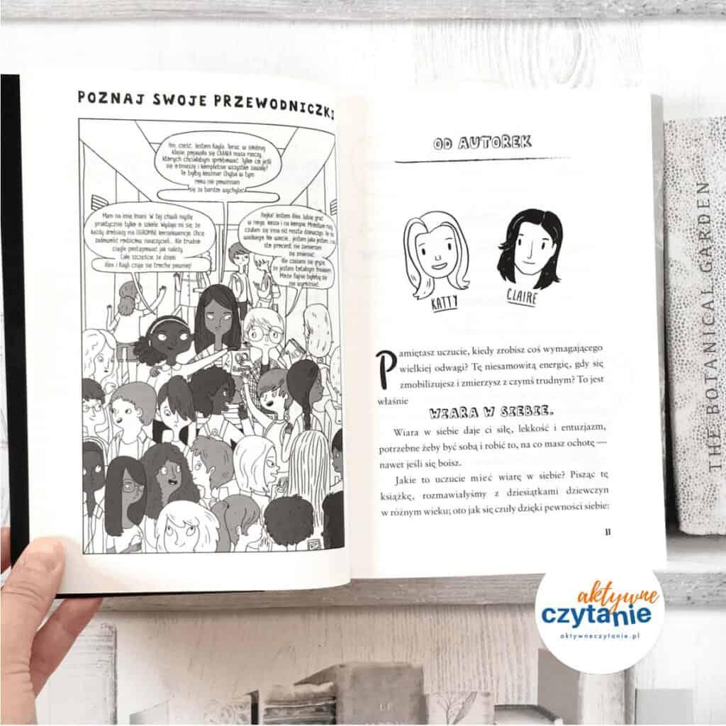 Pewna siebie dziewczyna ksiązki dla młodzieży aktywne czytanie ksiązki dla dzieci książka zgłoszona doplebiscytu