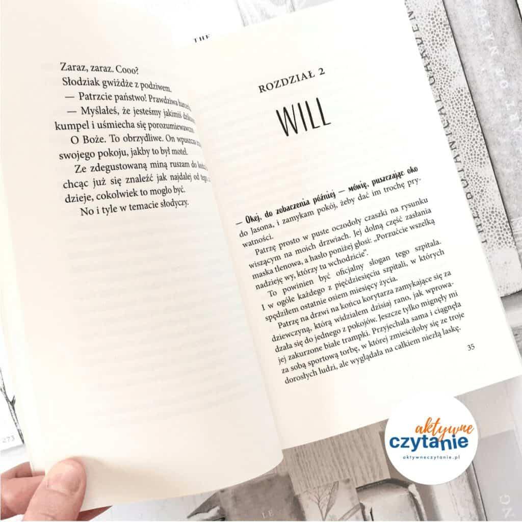 Trzy kroki odsiebie książki dla młodziezy aktywne czytanie