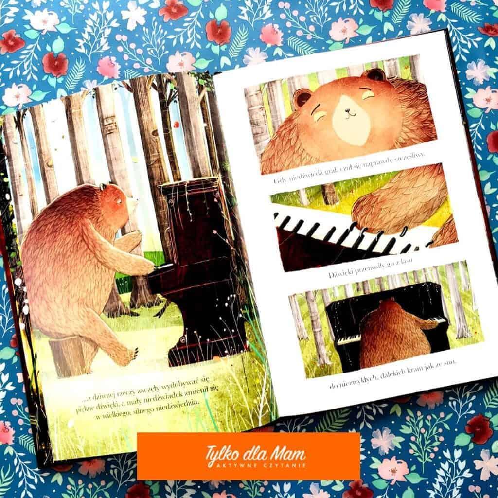 Niedźwiedź ipianino książki dla dzieci aktywne czytanie