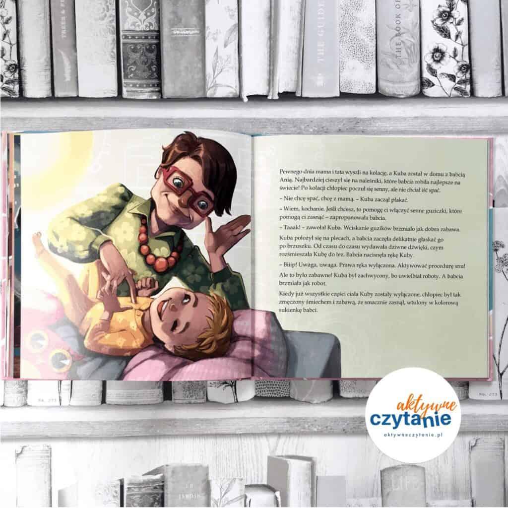 Kuba natropie snu książki dla dzieci aktywne czytanie
