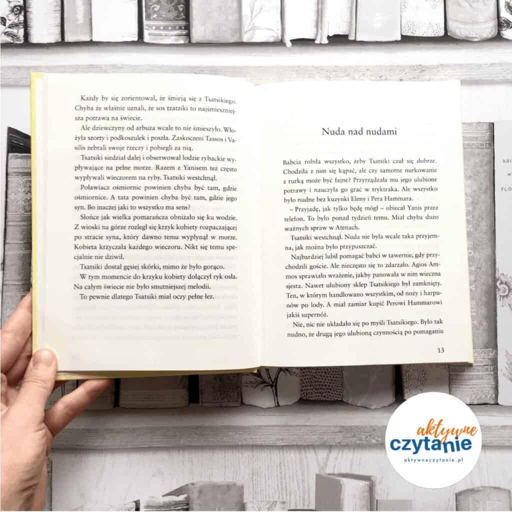 Tsatsiki iwojna oliwkowa książki dla dzieci aktywne czytanie