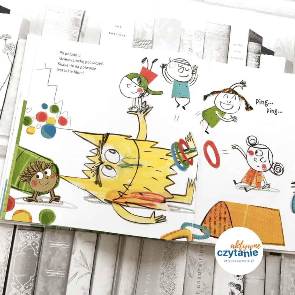 Kolorowy potwór idzie doprzedszkola ksiązki dla dzieci aktywne czytanie