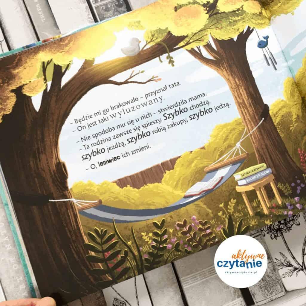 leniwiec-ktory-zmienil-nasze-zycie-recenzja-ksiazki-dla-dzieci-aktywne-czytanie 1