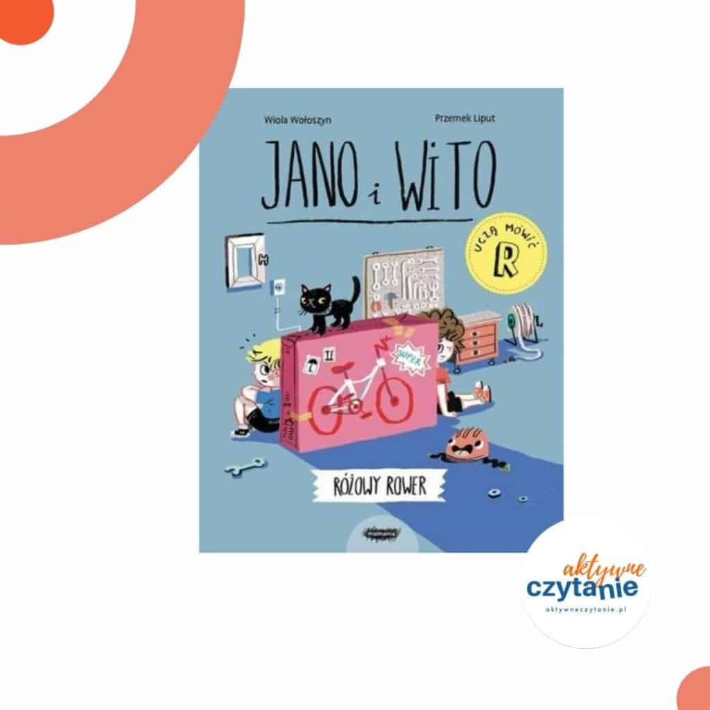 ksiazki-dla-dzieci-zapowiedzi-jano-i-wito-rozowy-rower