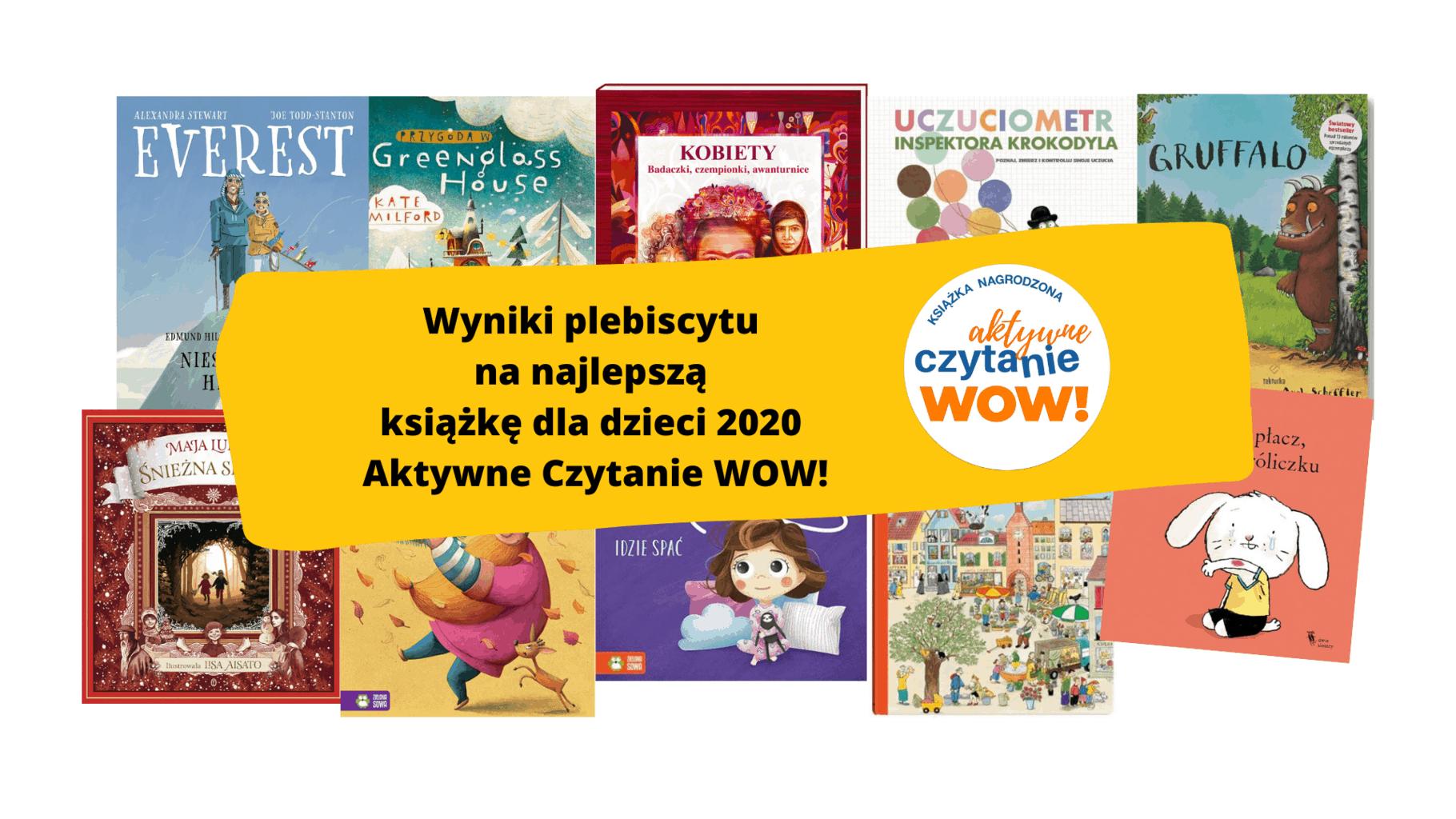 najlepsze ksiazki dla dzieci aktywne czytanie wow plebiscyt