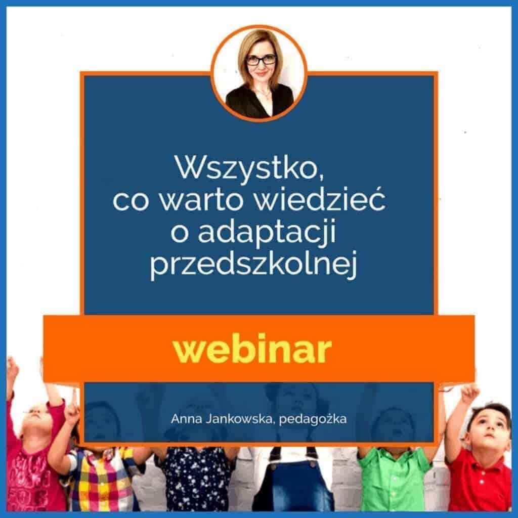jak przygotować dziecko doprzedszkola adaptacja webinar