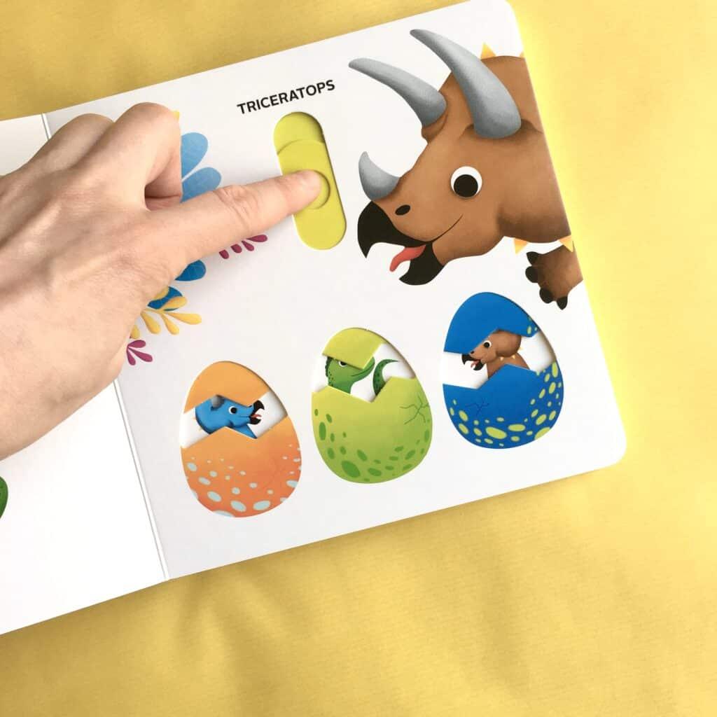Jupi jo kartonowe ksiazki dla dzieci dinozaury