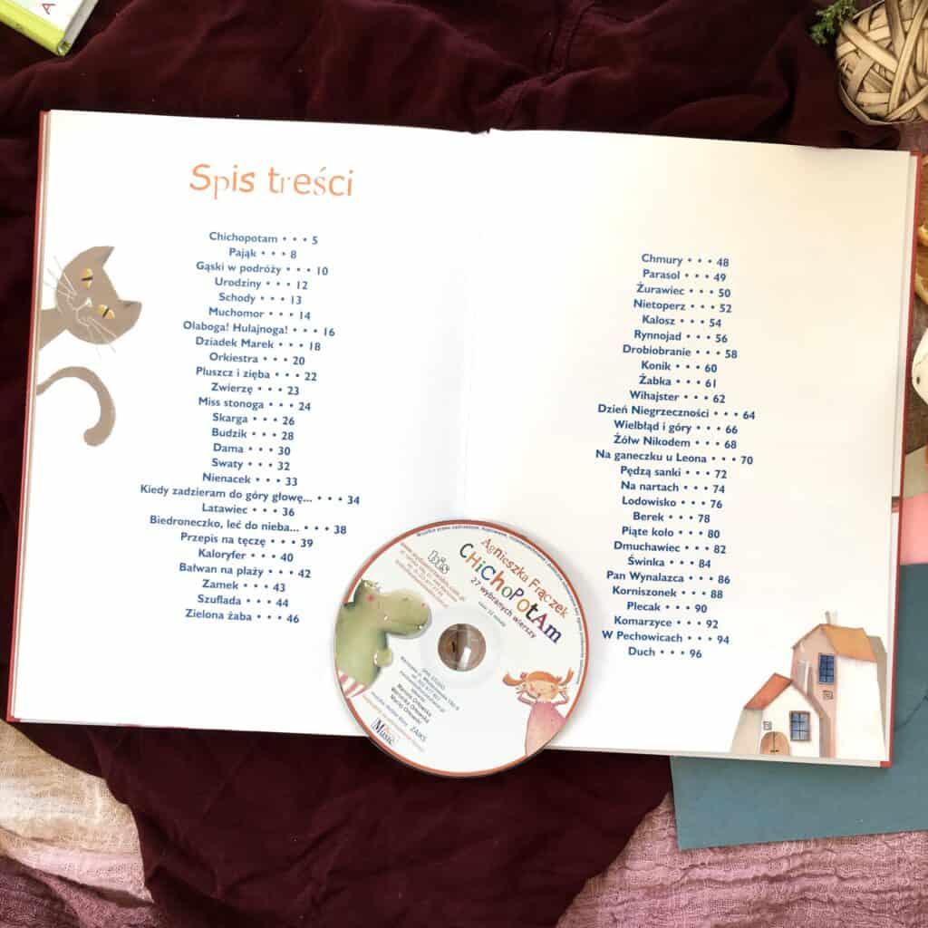 Chichopotam recenzja ksiazki dla dzieci agnieszka fraczek wiersze aktywne czytanie