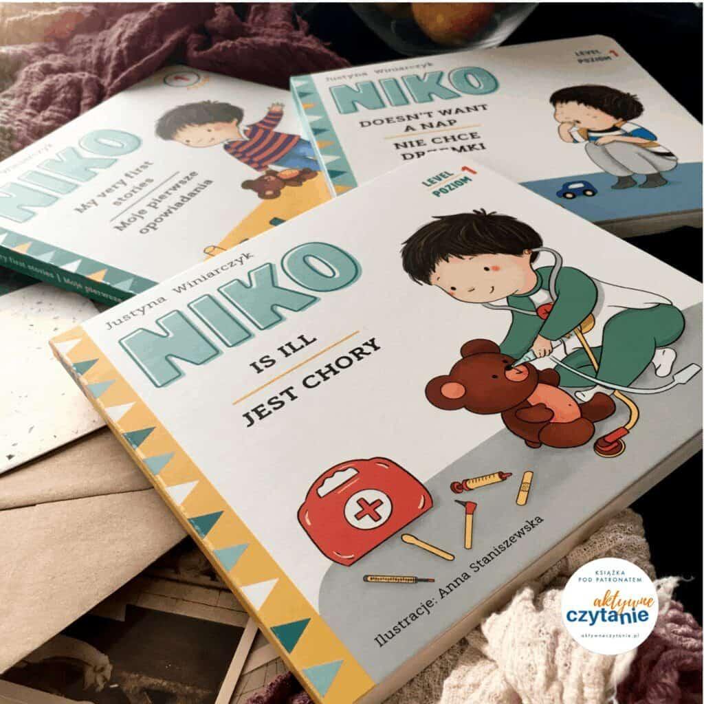 niko-jest-chory-patronat-aktywne-czytanie-dwujezyczka-ksiazka-dla-dzieci-recenzja