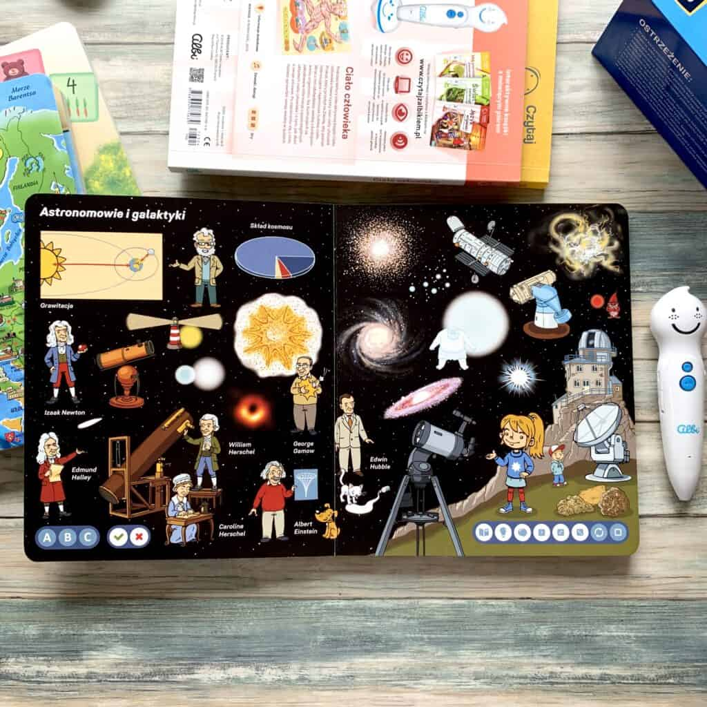 czytaj zalbikiem pioro albik recenzja ksiazki dla dzieci aktywne czytanie wszechswiat