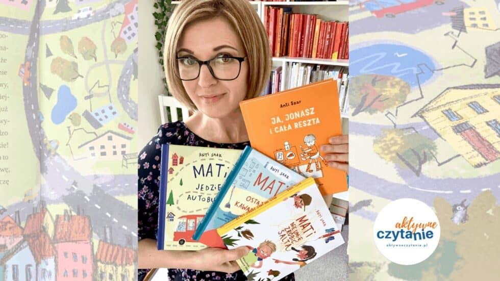 anna jankowska ksiazki dla dzieci aktywne czytanie mati jedzie autobusem ja jaonasz i cala reszta