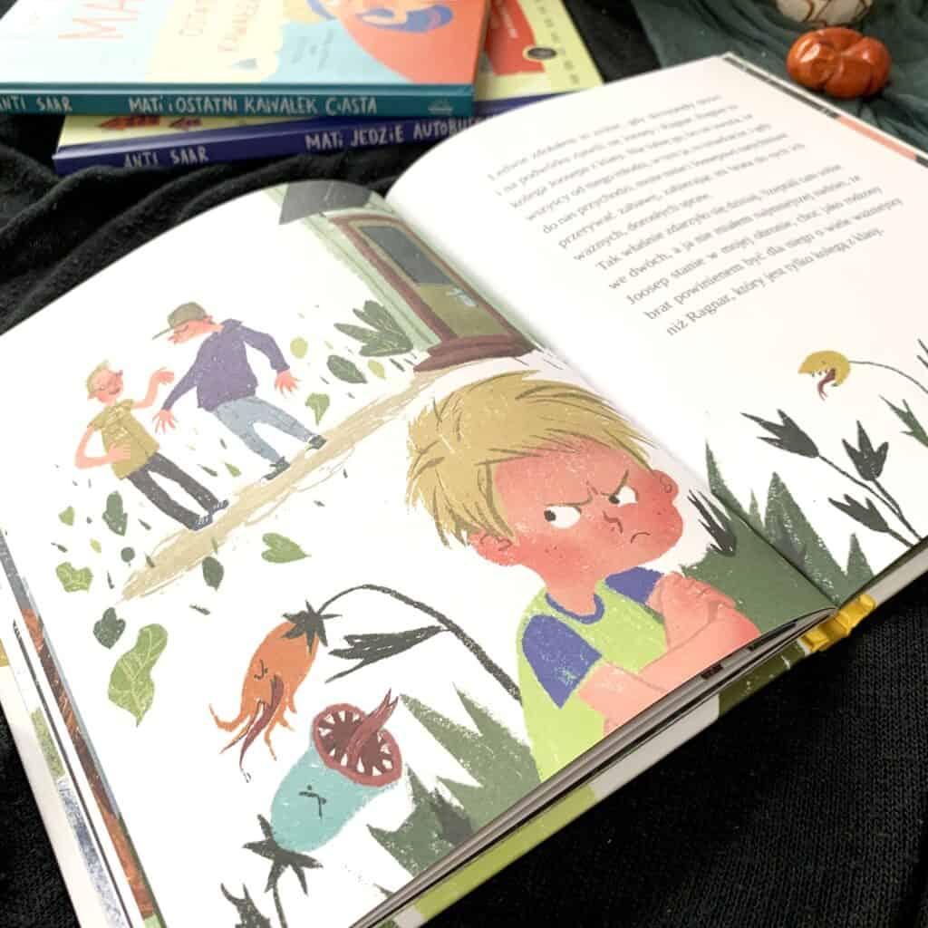 ksiazka recenzja mati nieumie zrobic salta blog aktywne czytanie ksiazki dla dzieci widnokrag