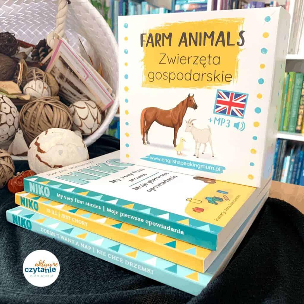 zwierzeta gospodarskie dwujezycznosc zamierzona farm animals zestaw edukacyjny recenzja blog aktywne czytanie