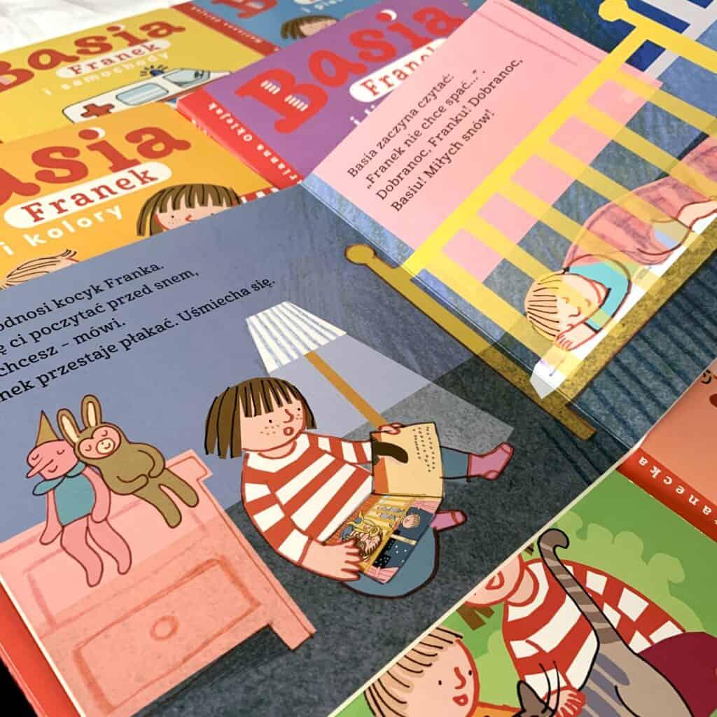 Basia franek izasypianie kartonowe serie dla dzieci