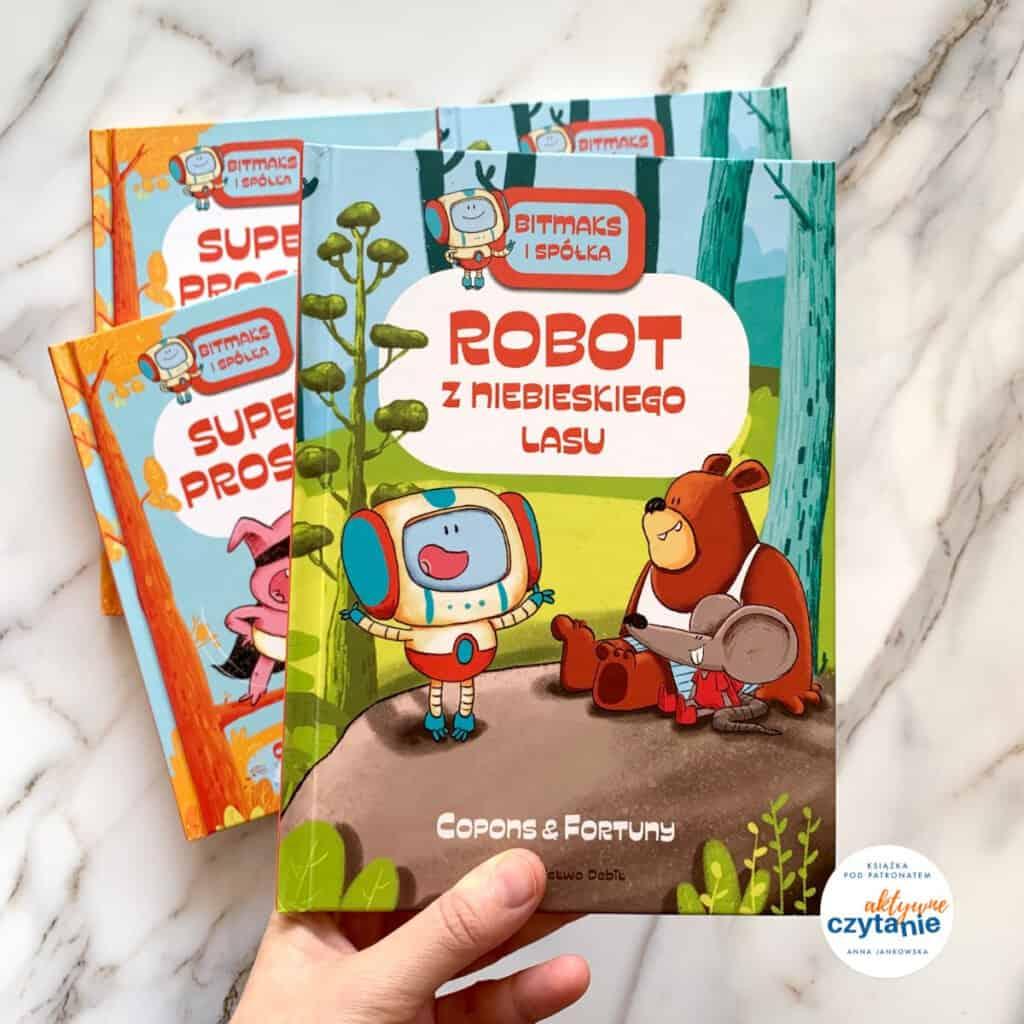 bitmaks robot zniebieskiego lasu komiksy donauki czytania recenzja ksiazki dla dzieci1