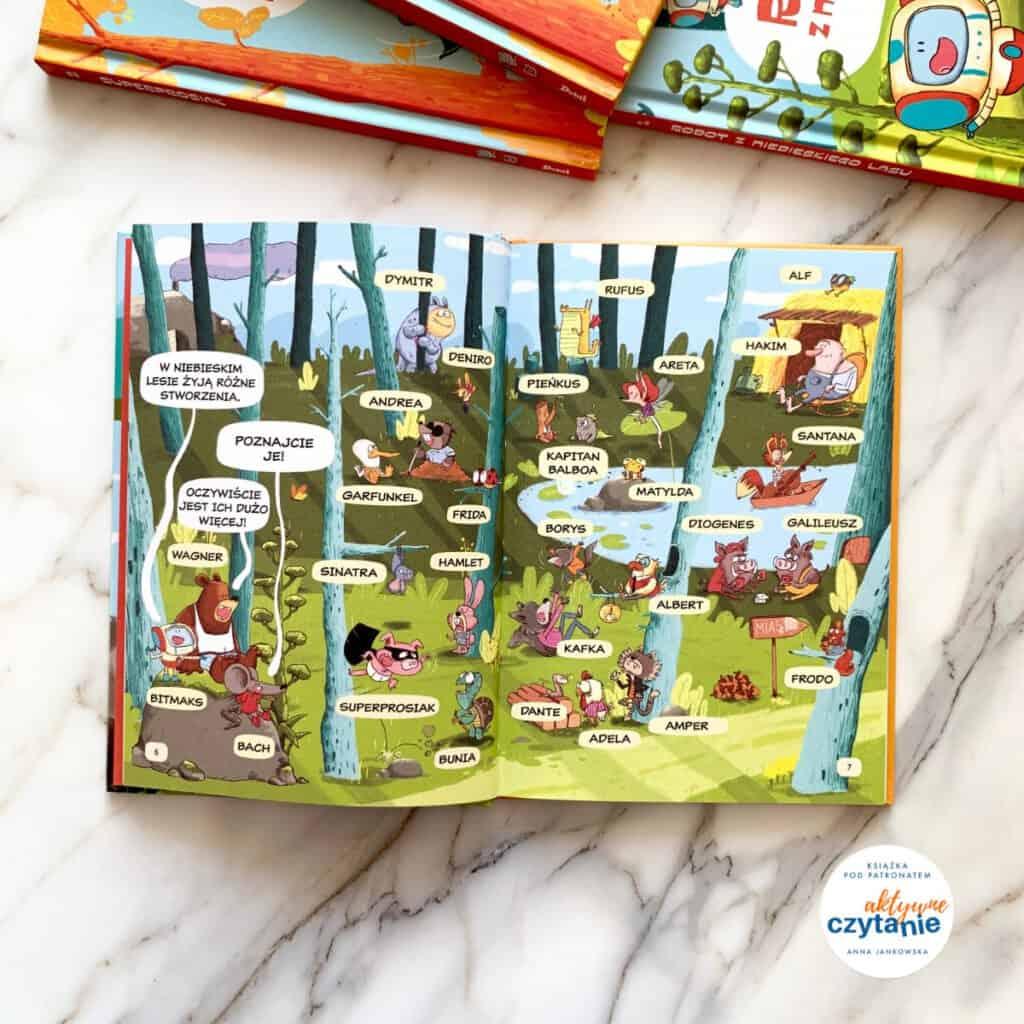 bitmaks robot zniebieskiego lasu komiksy donauki czytania recenzja ksiazki dla dzieci16
