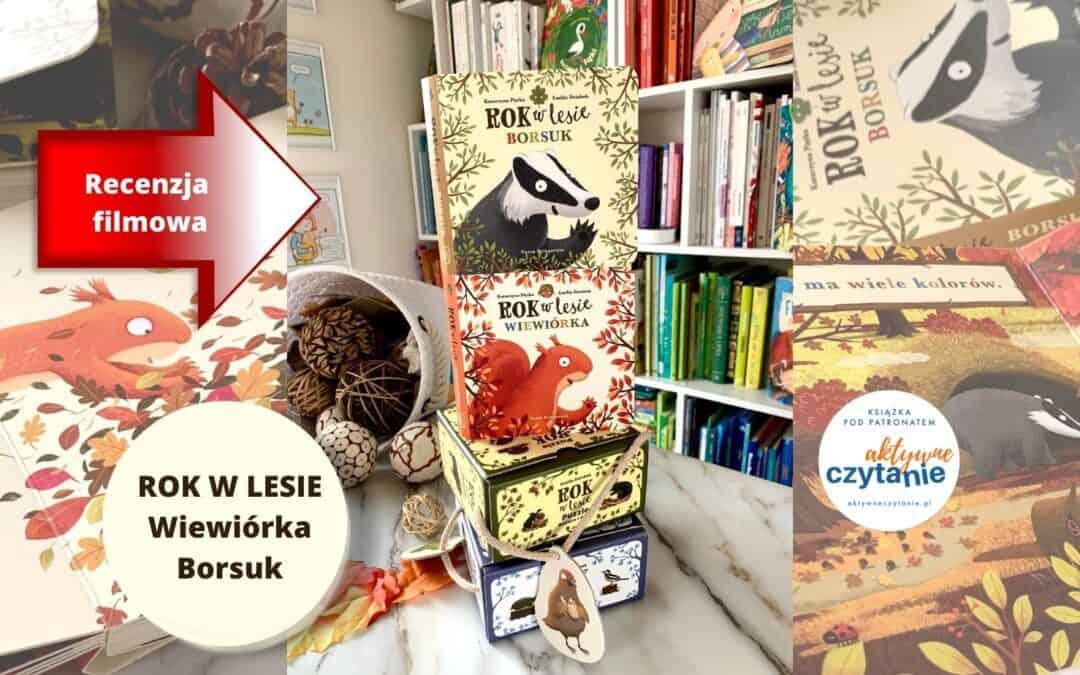 Rok wlesie. Wiewiórka iBorsuk –kartonowe książeczki dla dzieci