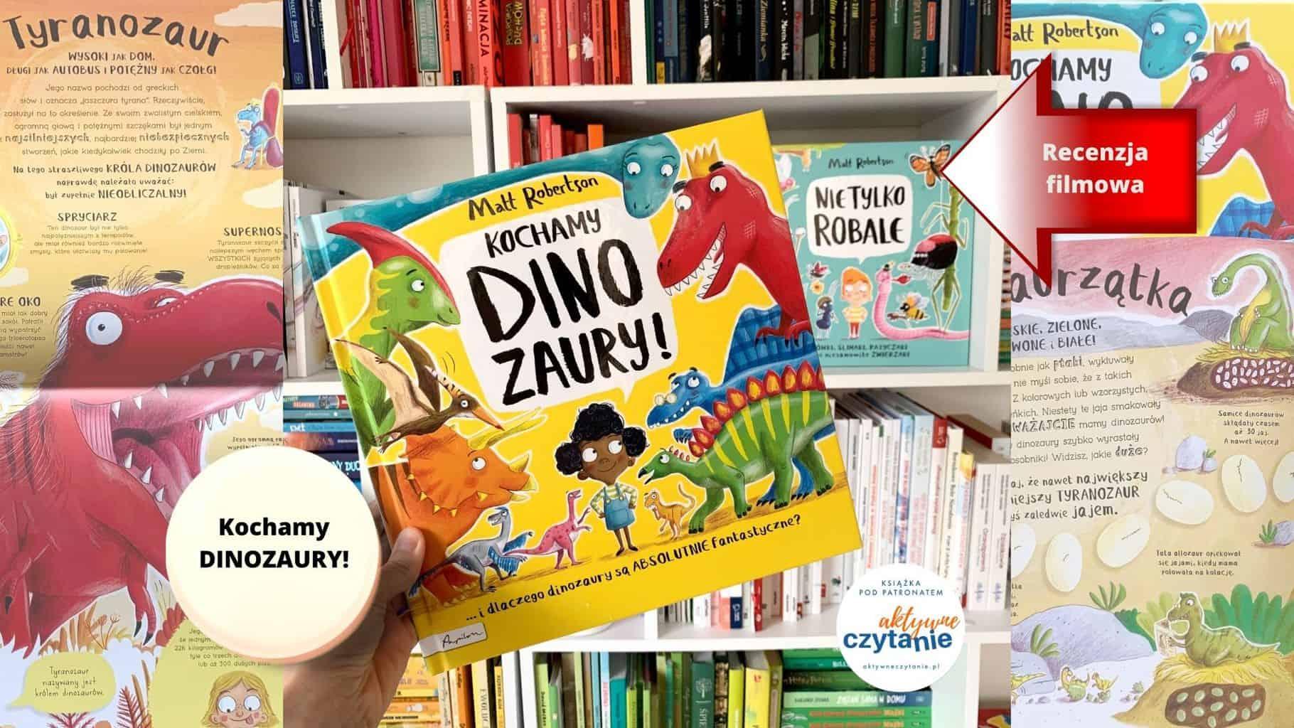 ksiazka kochamy dinozaury dla dzieci 3-4-5-6-7 lat recenzja patronat aktywne czytanie